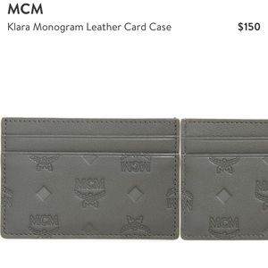 MCM klara leather card case